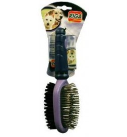 test brosse chien double
