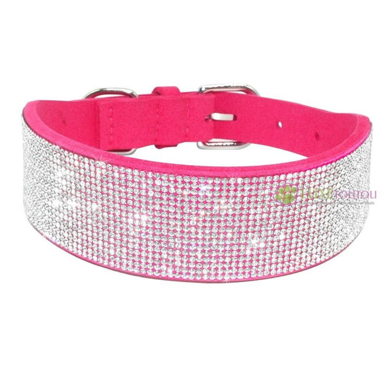 guide dachat collier chien strass rose